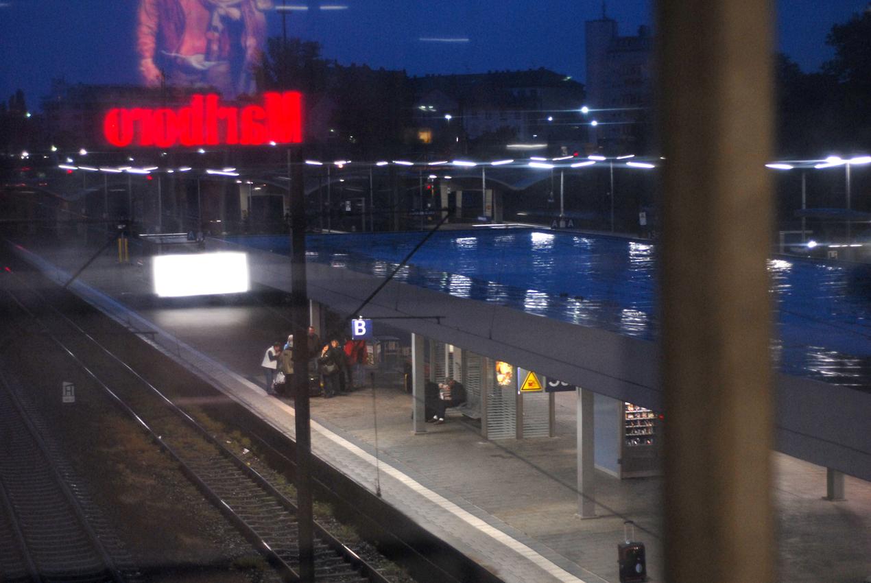 Heidelberg, Bahnhof am frühen Morgen