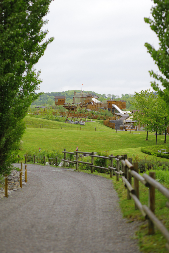Blick auf das Ravensburger Spieleland.