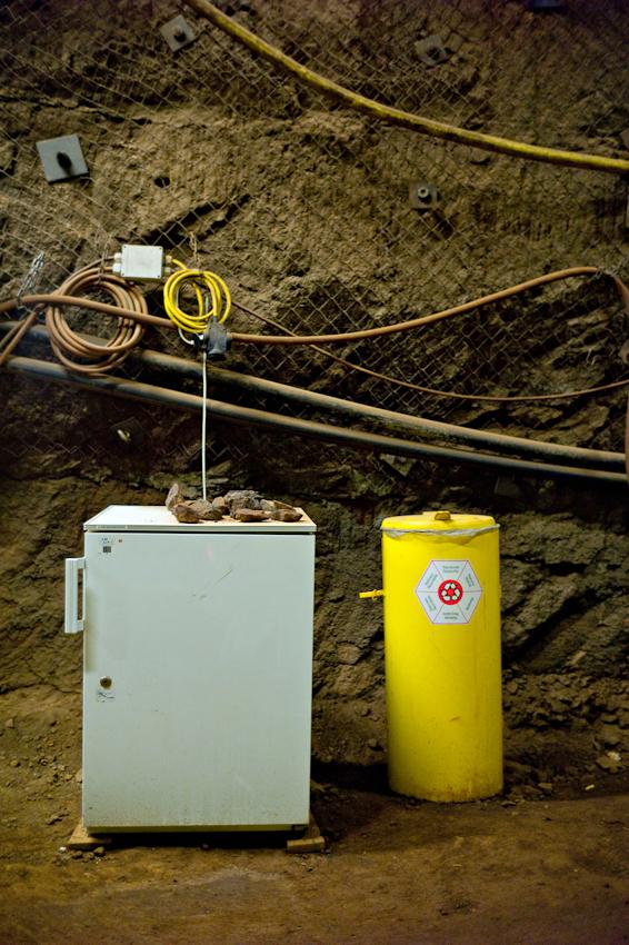 Einer der tiefest gelegen Kuhlschraenke Deutschlands, in 1000m Tiefe, im Schacht Konrad