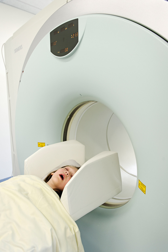 Sascha Marie nach einer PET-Computer-Tomographie.