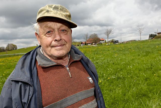 Siegfried Brecheisen auf dem Feld
